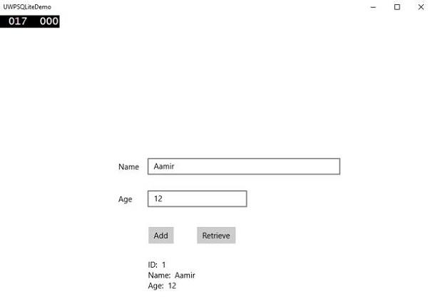 Windows 10 Development - SQLite Database - Tutorialspoint
