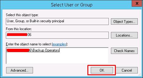 Backup Operator