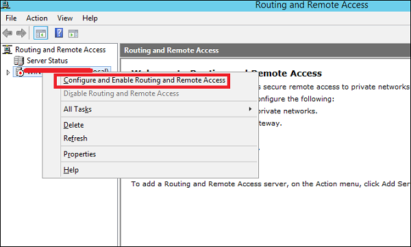 Enable Routing
