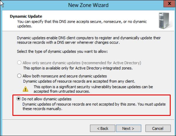 Update Zone