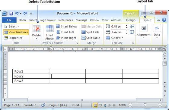 Rows columns in word 2010 - How to add a column in a table ...