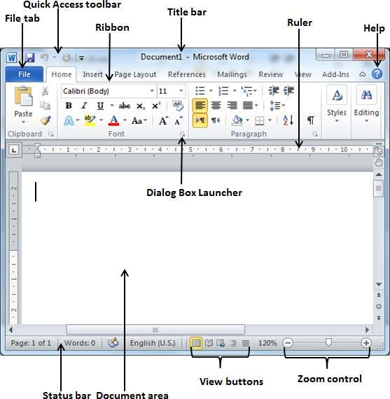 Diagram of microsoft word window wiring library explore window in word 2010 rh tutorialspoint com microsoft word 2007 diagram of ms word window ccuart Image collections