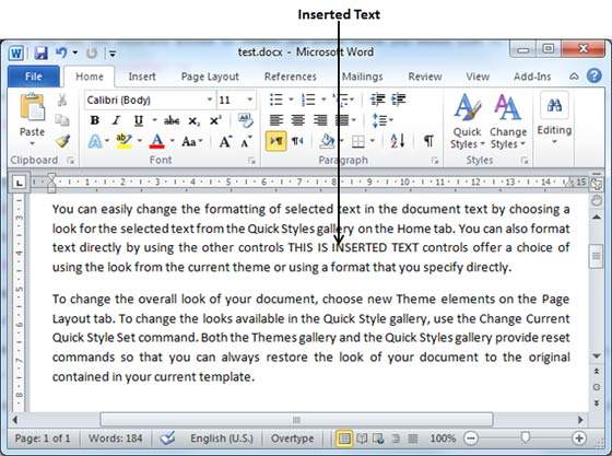 how to do add text to speak into word