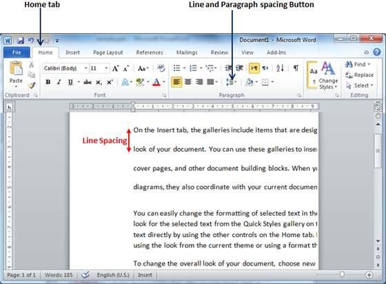 Spacing Between Sentences