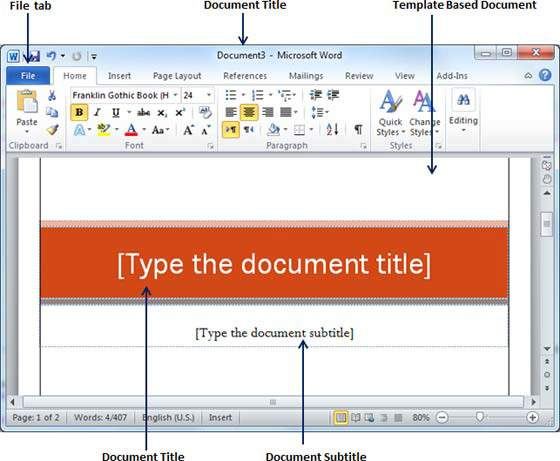 Templates For Microsoft Word | Use Templates In Word 2010