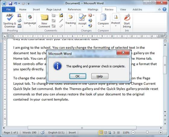 Spell Check In Word 2010
