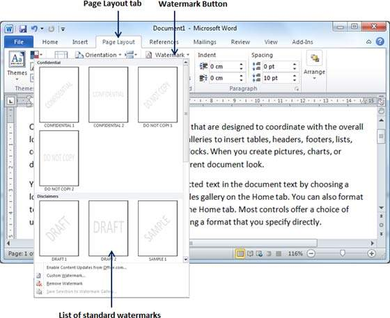 Set watermark in word 2010 ccuart Images
