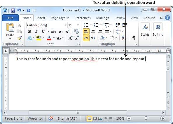 Undo changes in word 2010 step 3 let us try to click the undo button one by one you will see that word will recover all the deleted characters one by one after performing a few ccuart Image collections