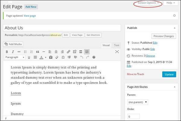Add Comments in WordPress 3