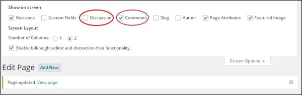 Add Comments in WordPress 4