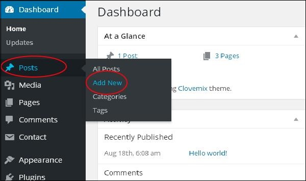 WordPress Guide: How to add a post in WordPress