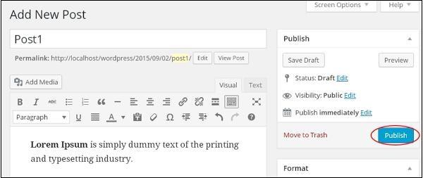 Add Posts in WordPress 3