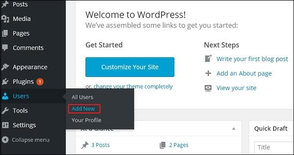 Add users to your WordPress 1