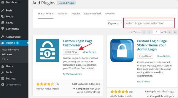 Customize Plugins in WordPress 2