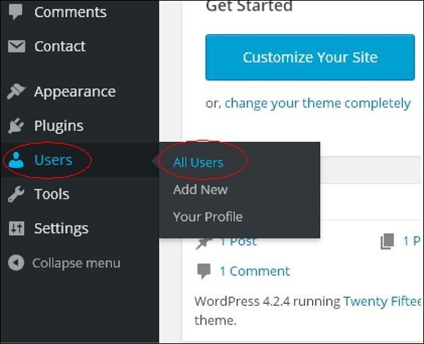 Delete Users in WordPress 1
