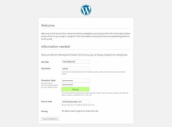 WordPress - Installation