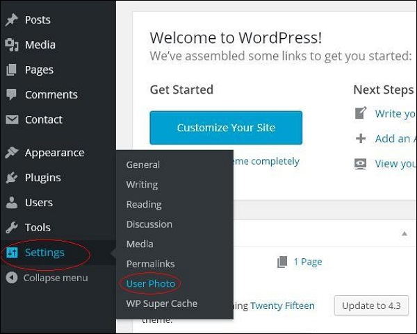 WordPress User Photo