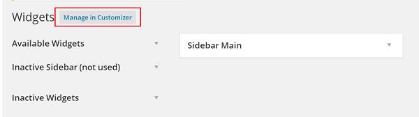 Setup Widget Management in WordPress 1
