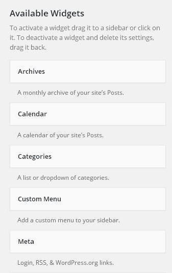 Setup Widget Management in WordPress 2
