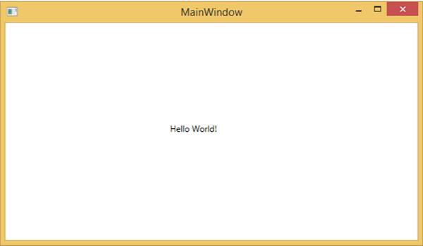 First WPF application
