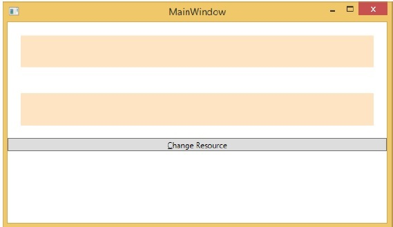 MainWindow of Resources