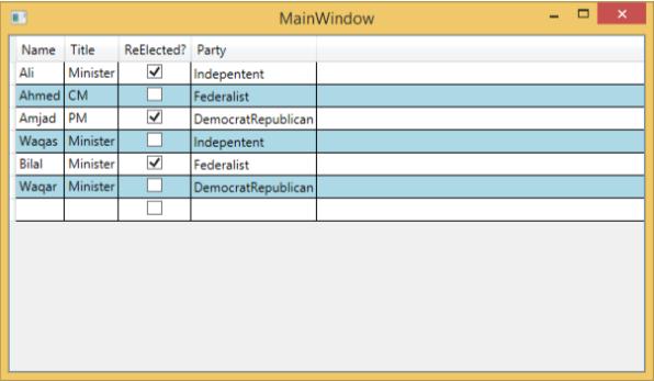 WPF - Datagrid - Tutorialspoint