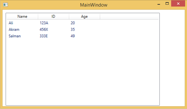 WPF - Gridview