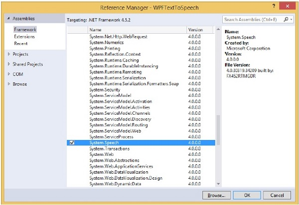 Reference Manager Dialog