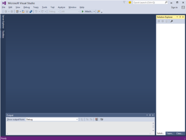 Window of Visual Studio