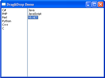 Drag Drop Output