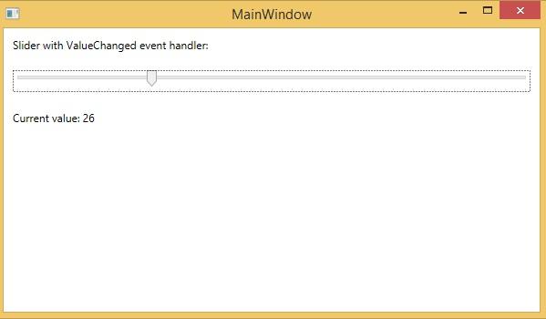 XAML - Slider - Tutorialspoint