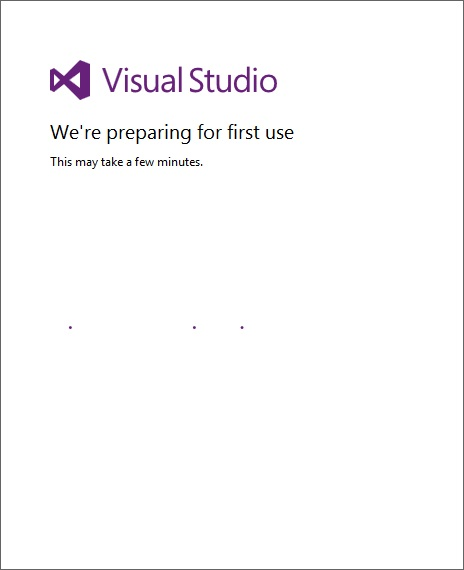 Visual Studio Start Menu