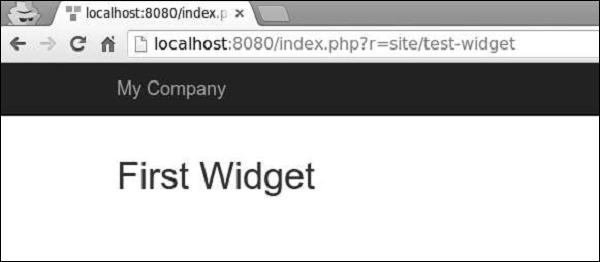 Yii - Widgets - Tutorialspoint