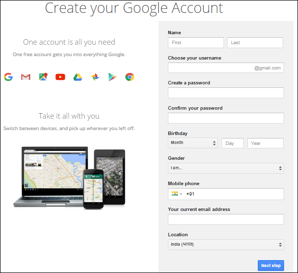 how to create a brand account on google