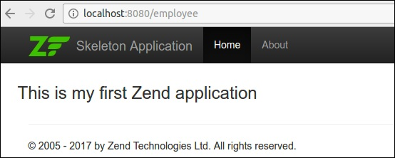 Zend Framework - Working Example